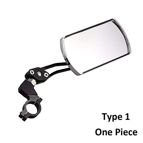 SDCM Outdoor Bicycle Mirror Bike Accessories Rear View Mirror Handlebar Flexible Safety Back Mirror 360 Degree Reflector Folded Blind (Color : Black)