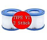 ASDGY VI Cartucho de filtro de piscina hinchable antiincrustante para jardín, exterior, limpieza de piscina (2 unidades)