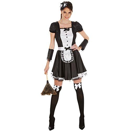 TecTake dressforfun Frauenkostüm sexy Dienstmädchen | Super verführerisches Kleid | Zaubert EIN traumhaftes Dekolleté | inkl. Haarreif, Strümpfe und Armstulpen (M | no. 301061)