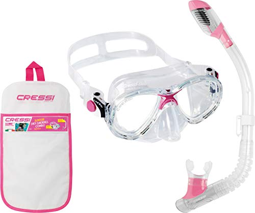 Cressi Marea VIP JUNIOR Snorkelling Set PINK DM1000064 Colour - Clear/Pink