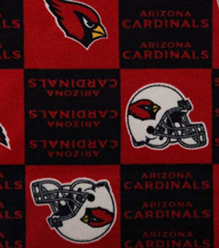 Country Snuggles Cardinals Checker Fleece Fabric by The Yard (Quarter Yard) Arizona Cardinals Fleece Fabric