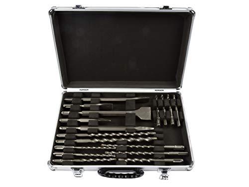 GEKO G40036 Meißelset 17-Tlg SDS-PLUS Bohrhammer Bohrer-Set Meißel Fliesen Breit Flach