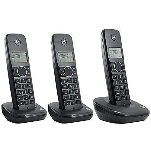 Telefone Motorola Sem Fio 3 Bases Moto 500id-3 Identificador de chamadas Bina
