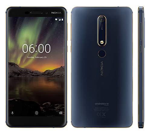 Nokia 6.1 64GB (Nokia 6 2018) TA-1043, 4GB RAM, Dual SIM, UNLOCKED - Blue/Gold