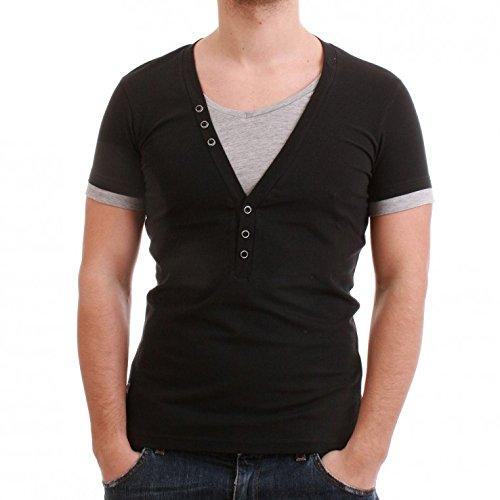 Carisma T-202 - Maglietta da uomo, colore: nero Nero s