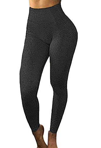 FITTOO Womens High Waisted Seamless Leggings Cutout Yoga Pants Gym Workout Tights Tummy Control Black S