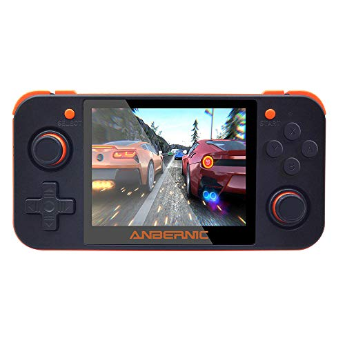 DREAMHAX RG350 Handheld Game Console with 3.5 Inch IPS Screen Preload 10000 Games Opendingux System, Video Games Gameboy with Dual 1GHz / 512M / 16G + 32G (Gray)