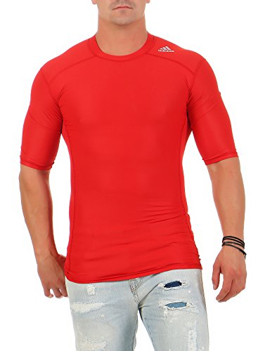 Adidas TechFit Climachill Funktionsshirt Compression rot Herren (L)