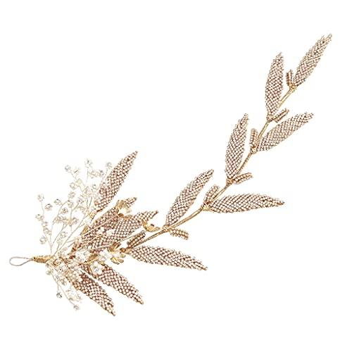JJZXD Braut Kopfbedeckung Seite Chuck Flower Exquisite Hochzeitskleid Abendessen Zubehör