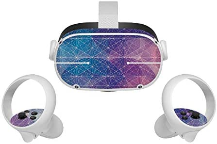 CALIDAKA All in One VR Glasses Skin Sticker Compatible with Oculus Quest 2 Sweatproof Controller product image
