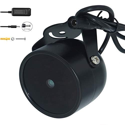 JC Infrarot Illuminator 4-LED High Power IR Licht Weitwinkel für Nachtsicht CCTV und IP-Kamera Schwarz mit Netzteil