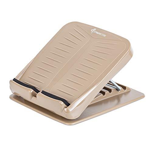 StrongTek Portable Slant Board, Adjustable Incline Boards, Calf Stretcher, Desk Foot Rest, Foot Stool, Anti Slip Design, Ankle Stretching, 4 Positions Calve Stretch Wedge (300LB Capacity)
