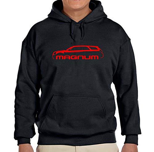 2004-08 Dodge Magnum Classic Red Color Outline Design Hoodie Sweatshirt 2XL Black