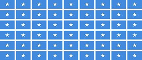 Mini Aufkleber Set - Pack glatt - 20x12mm - Sticker - Somalia - Flagge - Banner - Standarte fürs Auto, Büro, zu Hause & die Schule - 54 Stück
