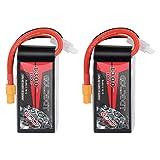 GOLDBAT 1300mAh 4S 100C 14.8V Softcase LiPo Battery Pack with XT60 Plug for Heli Airplane Drone FPV Racing (2 Packs)