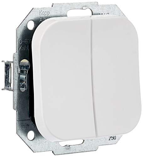 Kopp 688502009 DONAU Serienschalter, arktis-weiß