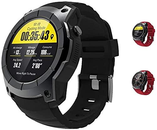 Guarda Bluetooth Smart Watch, Health & Fitness Tracker Smartwatch cardiofrequenzimetro Attività di pressione sanguigna orologio con slot per schede SIM GPS Slot Chiamata Notifica per iOS Android Phone