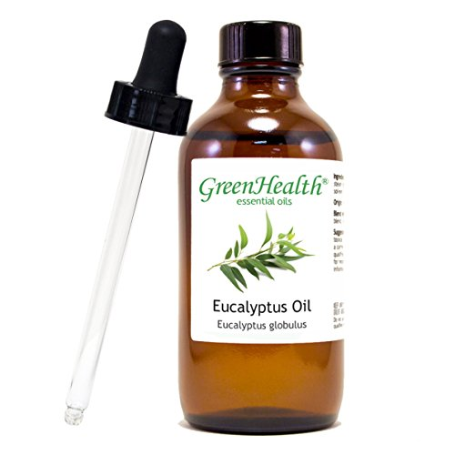 Eucalyptus Essential Oil 4 fl oz (118 ml) Glass Bottle w/Glass Dropper – 100% Pure Essential Oil
