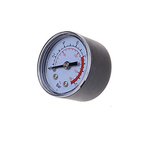 QWERTOUR Compresor de Aire neumático hidráulico Indicador de presión del Fluido 0-12Bar 0-180PSI