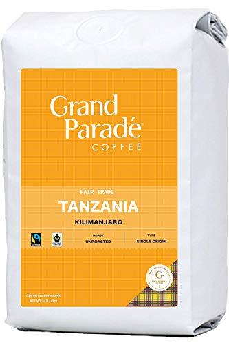 Grand Parade Coffee, 3 LB Unroasted Coffee Beans - Tanzania AA Kilimanjaro Single Origin - High Altitude Specialty Arabica - Low Acid - Fair Trade - Fresh Raw Green Coffee - 3 Pound Bag