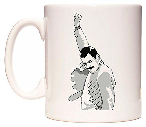 Acen Freddy Mercury, The Greatest' - Mug fantaisie amusant en céramique 311.8 g - Parfait Saint-Valentin, Pâques, été, Noël, anniversaire