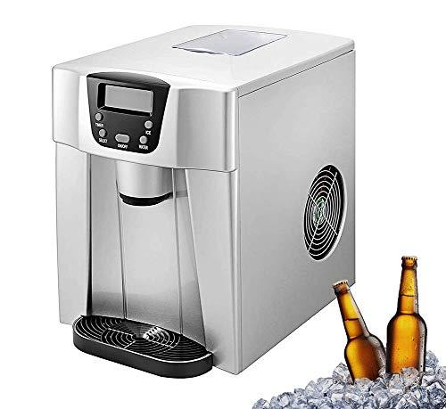 Eismaschine für Arbeitsplatte - Macht 33 Pfund EIS pro 24 Stunden - Eiswürfel in 6 Minuten fertig - Elektrische Eismaschine für Küchenbars