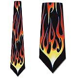 Three Rooker Ralph Marlin Herren Krawatte mit Flamme