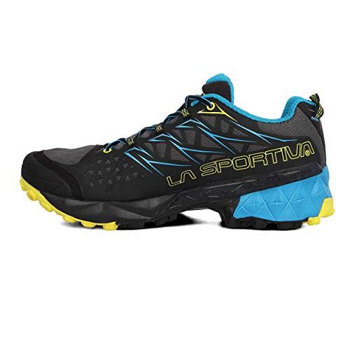 La Sportiva Akyra, Zapatillas de Trail Running Hombre, Multicolor (Carbon/Tropic Blue 000), 40 EU