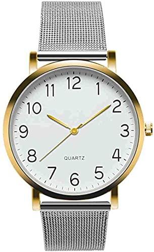 JZDH Mano Reloj Reloj de Pulsera Relojes Militares Reloj Militar Unisex Simple Business Fashion Steel Strip Reloj de Pulsera de Cuarzo Womenold Relojes Decorativos Casuales