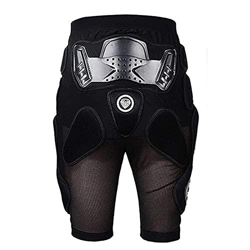 XINNI Motorrad-Schutzhose für Motocross-Motorräder, Rennsport, Hüft- und Beinschutz, Schwarze Shorts, Mittel