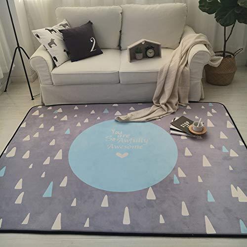 SXFYZCY Tapis et moquettes pour Enfants Tapis auxiliaires rampants Salon Tapis de Chambre à Coucher Slip Easy to Clean Baby Gift, H,150x195cm