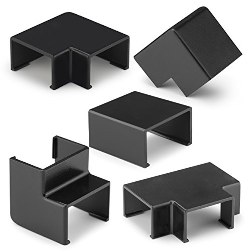 Inofix Plasfix Verbindungen Eck-und T-Stücke für 2405 Kabelkanal, 7-teilig, (schwarz)