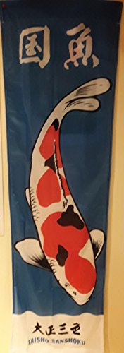 OSAGA ORIGINAL japanische Koi-Fahne Taisho aus Kunststoff-Material, blauer Hintergrund