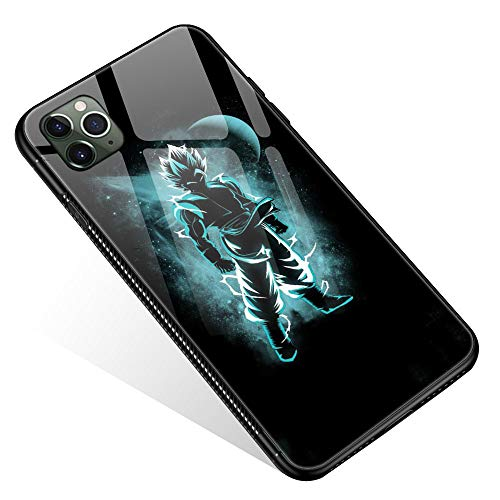 iPhone 11 Pro Max Case,Tempered Glass iPhone 11 Pro Max Cases Blue Superman for Women Girls Boys, Pattern Design Shockproof Anti-Scratch Case for Apple iPhone 11 Pro Max