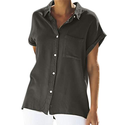 TWIFER Damen Sommer Beiläufige Normallackoberseiten Tasche Der Kurzärmeliges Blusen T Shirt