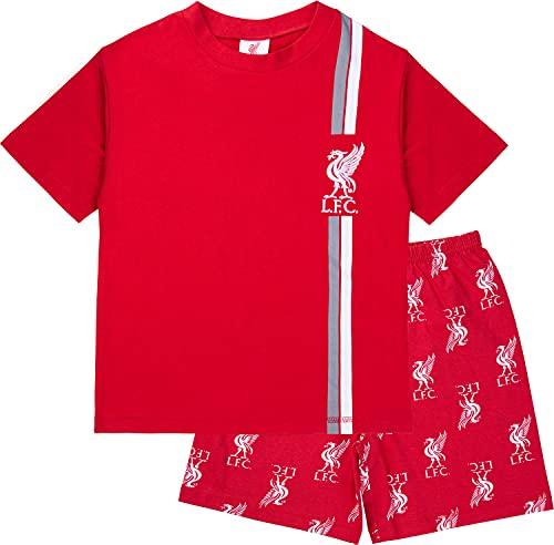 Liverpool F.C. Boys Pyjamas, Cotton LFC Short PJs, Football PJs For Kids And Teenagers (13-14 Years) Red