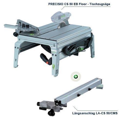 FESTOOL Tischzugsäge PRECISIO CS 50 EB FLOOR + GRATIS Längsanschlag LA-CS 50/CMS