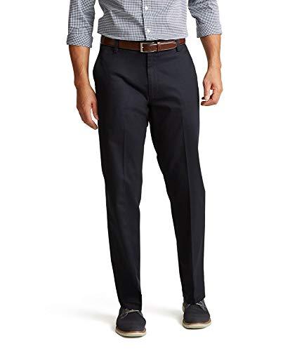 Dockers Men's Classic Fit Signature Khaki Lux Cotton Stretch Pants D3, Dockers Navy, 34W x 32L
