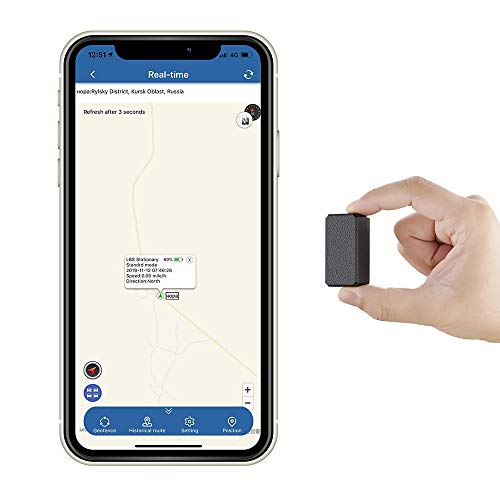 Mini Localizador GPS Rastreador GPS Antirrobo de SMS Seguimiento en Tiempo Real para Coche Vehículos Moto Bicicletas Niños Billetera Documentos