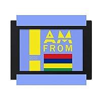 私はモーリシャス出身です デスクトップフォトフレーム画像ブラックは、芸術絵画7 x 9インチ