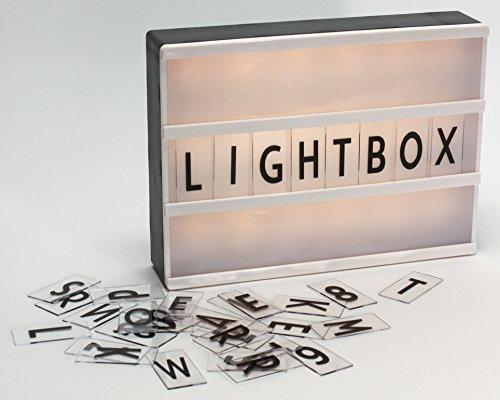 Boîte lumineuse LED Light Box avec 100 lettres.