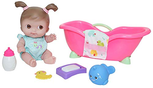 JC Toys Lil' Cutesies 9.5' All Vinyl Washable Doll Bathtub Gift Set, Model Number: 17434