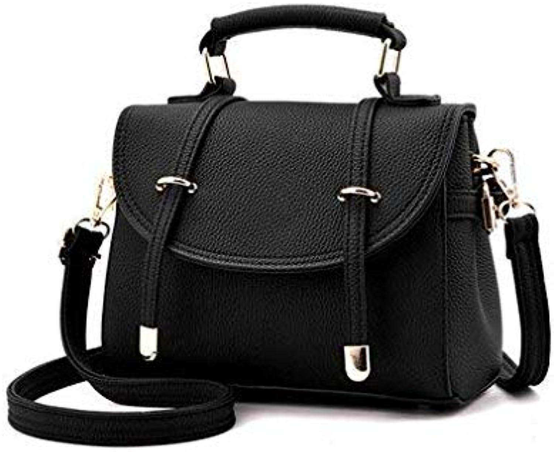 Bloomerang Leather Ladies Hand Bags Women Shoulder Bag Pillow Hign Quality New Retro British Style sub-Shoulder Oblique Cross Handbag Tote color Black