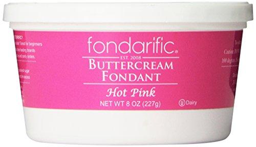 Fondarific Buttercream Fondant, Hot Pink, 8 Ounce