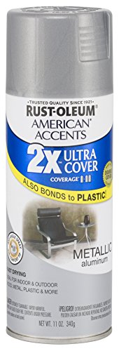 Rust Oleum 280710 American Accents Ultra Cover 2X Spray Paint, Aluminum, 11-Ounce