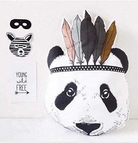 Marbeine Puppe Kissen, weich, Plüsch, Panda-Kopf, Geschenk, Dekoration, Kamera, 40 cm