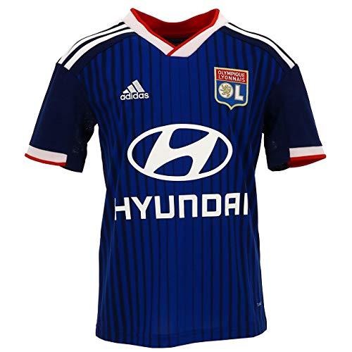 adidas Olympique Lyon Segunda Equipación 2019-2020 Niño, Camiseta, Dark Blue, Talla 128
