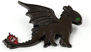 MINGZE Come addestrare Il Tuo Drago Spilla, Il Tuo Logo Senza Denti Night Fury, la Decorazione dei Gioielli Distintivo, Ho...