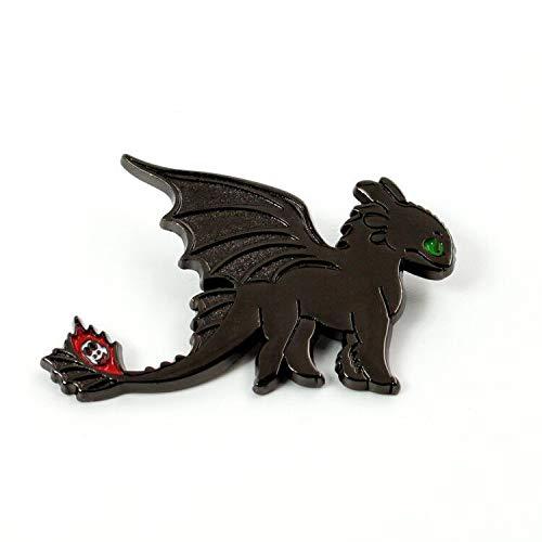 MINGZE Cómo Entrenar a tu dragón Broche, tu Insignia sin Dientes Night Fury, la decoración de Joyas, How to Train Your Dragon (Toothless02)