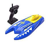 HSCOPTER Remote Control Boats for Pools and Lakes,2.4G RC Boat 15km/h High Speed Boat Toys for Kids Adults Boys Girls(Blue) (N511)
